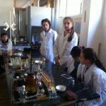 Մովսես գյուղի Ավագ դպրոցի սովորողները՝ քիմիայի կաբինետում